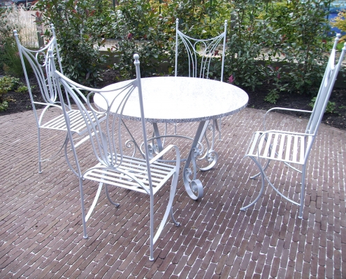 Siersmederij De Weerdt Tuin meubels tafel stoelen